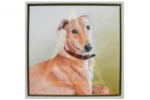 Lurcher Portrait by Anna-Marie Buss